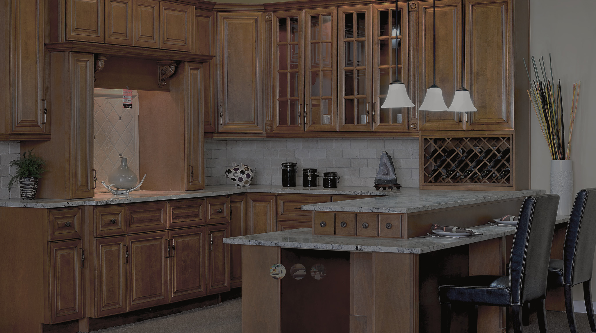 Cowry kitchen cabinets and countertops - High Quality Solid Hardwood Cabinets